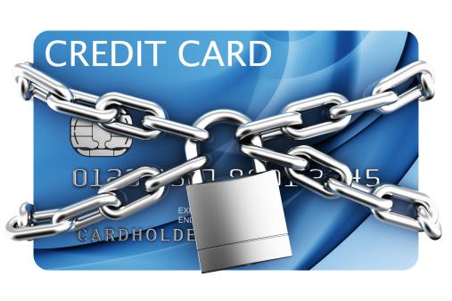 Padlocked credit card