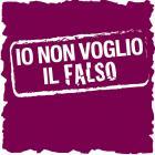 """Il logo della campagna """"Io non voglio il falso"""""""
